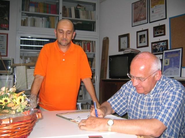 Doriamo Guerrieri (presidente Nazionale CNGEI), Antonio Scalini (responsabile Centro Documentazione regionale AGESCI Sicilia) 14-8/2008